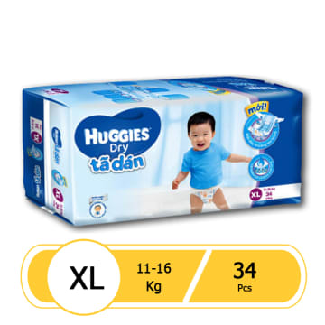 Huggies Dry Diaper Jumbo XL 34