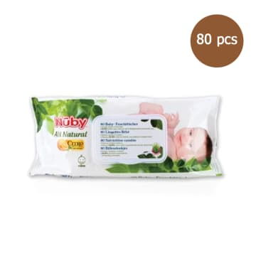 Nuby - All Natural 80 Baby Wipes