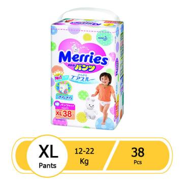 Merries Diaper Pant XL (38 pcs)