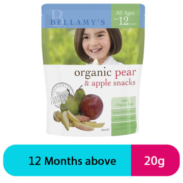 Bellamy's Organic Pear & Apple Snacks