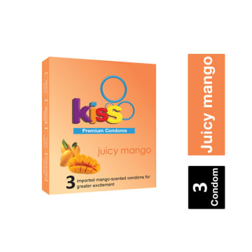 Kiss Juicy Mango Premium Condom ကြန္ဒုံး
