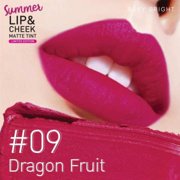 Baby Bright - Summer Lip & Cheek Matte Tint#09Dragon Fruit