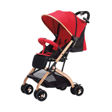 Little Bean Premium Glorious Baby Stroller (Red)
