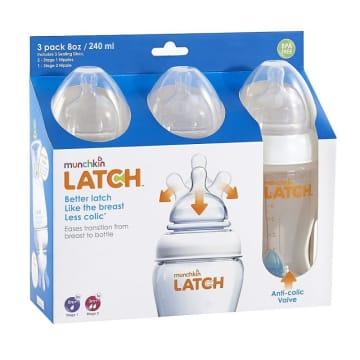 Munchkin LATCH Bottle 3 pack 8OZ/240ml