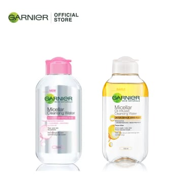 GARNIER 39. Bi Phase Micellar Cleansing Water 125ml  +  GARNIER Micellar Cleansing Water Pink - 125ML