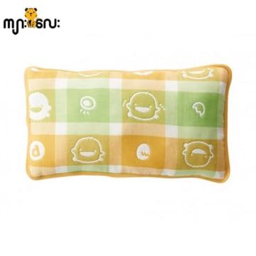 Piyo Piyo six Layer Cotton Gauze Pillow (Yellow)