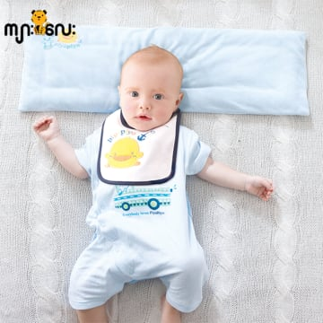 Baby Terry Foldable Pillow (Blue)
