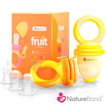 NatureBond Baby Fruit & Food Feeder- Sunshine Orange and Lemonade Yellow