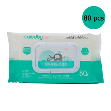 Caredby Super Soft Baby Mouth Hand Wipes (80 pcs )