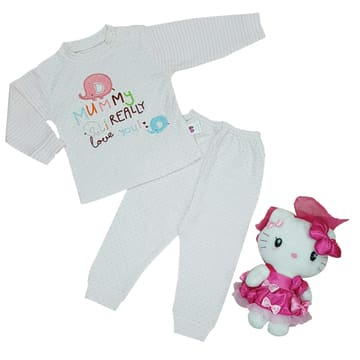 100% Cotton (220gms) Baby Long Sleeves Cloth Set