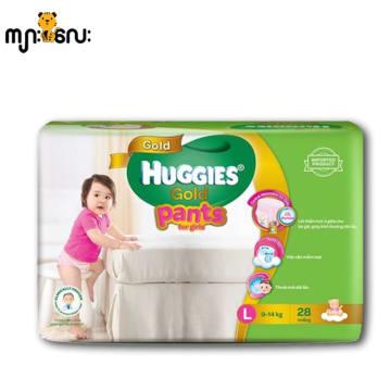 Huggies (Gold Pants) Over Night L 28 girl