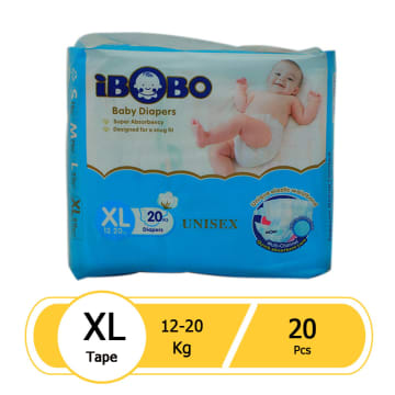 iBOBO Diaper Tape (XL-20 Pcs)