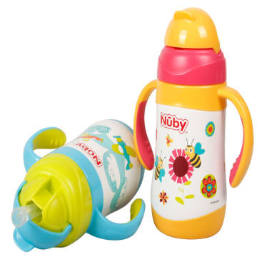 Nuby No-spill Clik-it Stainless Steel Insulated Flip-it 280ml