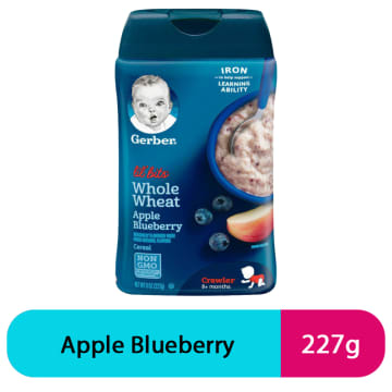 Gerber Whole Wheat Apple Blueberry (227g)