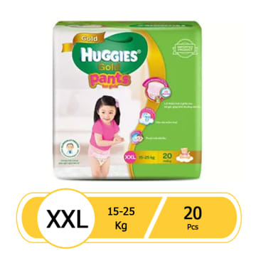 Huggies (Gold Pants) Over Night XXL 20 girl