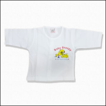 Cute Baby -White Long Sleeves Shirt (0-3M)