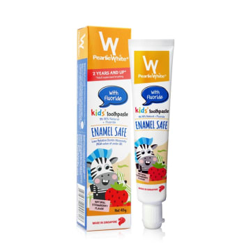 Pearlie White Strawberry Toothpaste With Fluoride 2 Y+