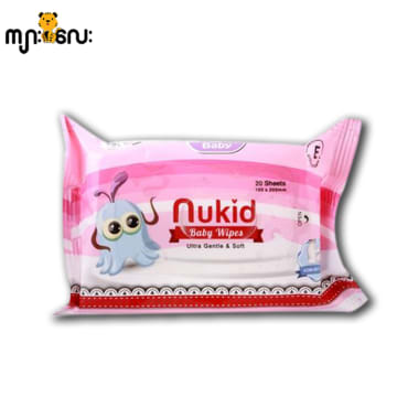 Nukid Baby Wipes 20 Sheets