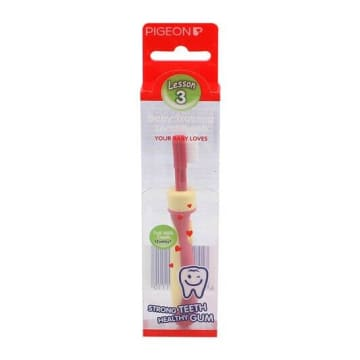 Baby Traning Tooth Brush (Pigeon)  Pink