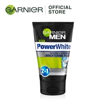GARNIER MEN Power White Cleansing & Shaving Foam -  100ml