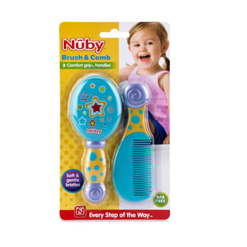 Nuby- Comb & Brush - 0m+
