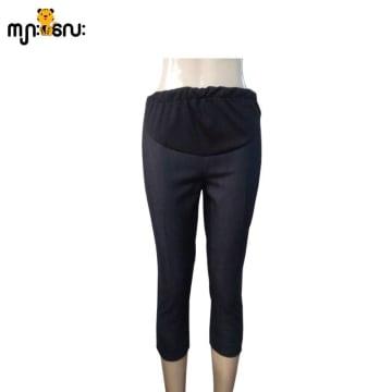 (Large Size) Jeans Stretch Black Front Yoke Jeans Style 3/4 Pants