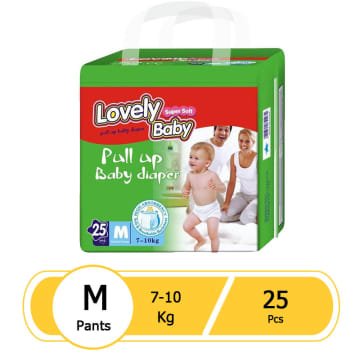 Lovely Baby Super Soft Pull up Baby Diaper (M-25 Pcs)
