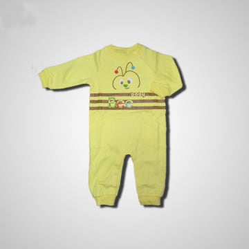 Baby Mommy Kids Pocket Overall Yellow  Size-2 (1-3 M)