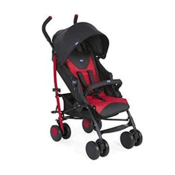 Chicco Echo Stroller W/Bumper Bar Scarlet