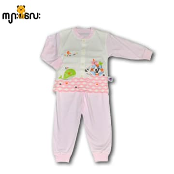 100% Cotton Baby Long Sleeves Cloth Set