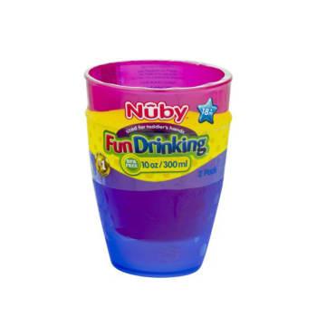 Nuby -Fun Drinking -10 Oz/300 ml -2 Packs