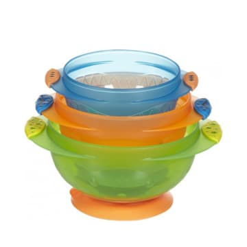 Munchkin -3 Stay Put Suction Bowls-3pcs