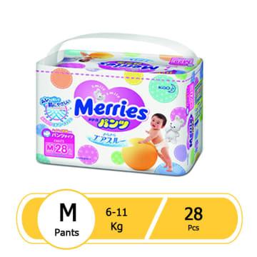 Merries Diaper Pant M (28 pcs)