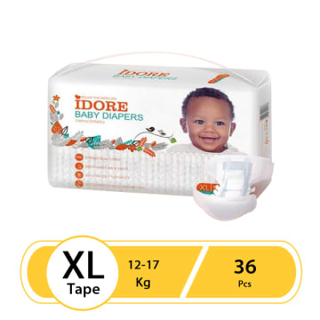 Idore Baby Diaper Tape XL-36Pcs