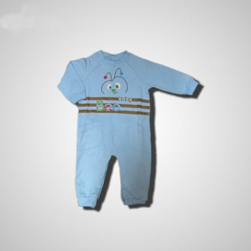 Baby Mommy Kids Pocket Overall Blue Size-2 (1-3 M)