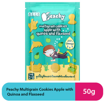 Peachy Multigrain Cookies Apple with Quinoa and Flaxseed (50g)