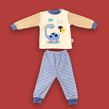 100% Cotton Dino with Stripe Pant (18 month)