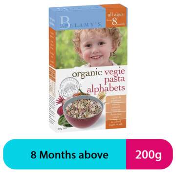 Bellamy's Vegie Pasta 8+