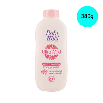 Babi Mild Powder White Sakura ( 380g )
