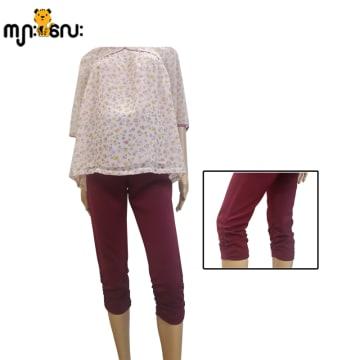 (Medium ) Legging Maroom 3/4 Pants