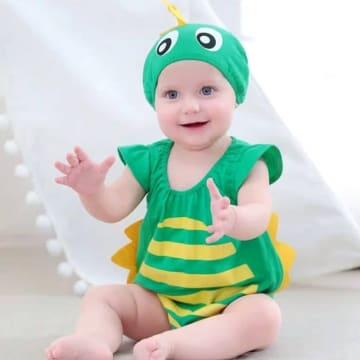 dinosaur Costume Romper Outfit Set - with hat