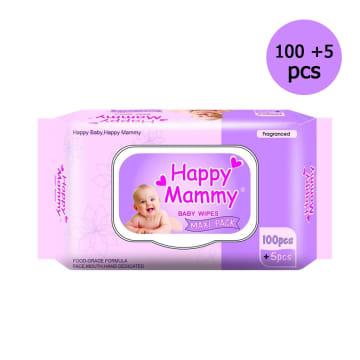 Happy Mammy Baby wipes Purple (100+5pcs )