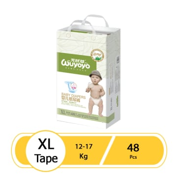 WUYOYO Baby Diaper - XL (48 Pcs)