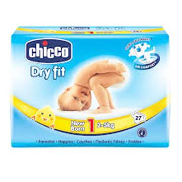Chicco Baby Diaper - NB (27pcs)