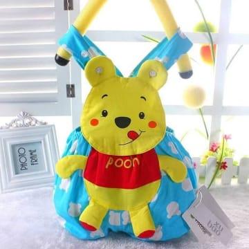 Cartoon animal shape Triangle romper - Pooh (Light Blue)