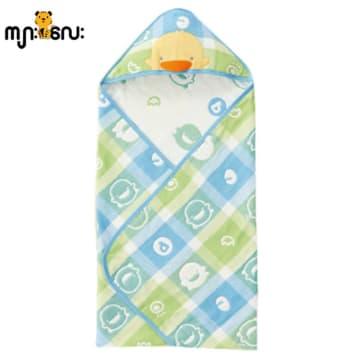 Airflow Soft Cotton receving Blanket (Blue)
