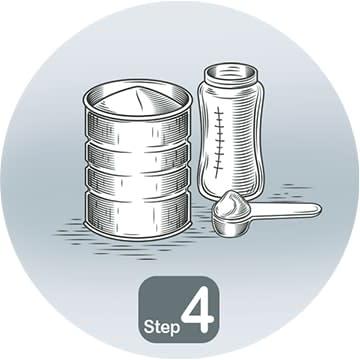 Step (4)