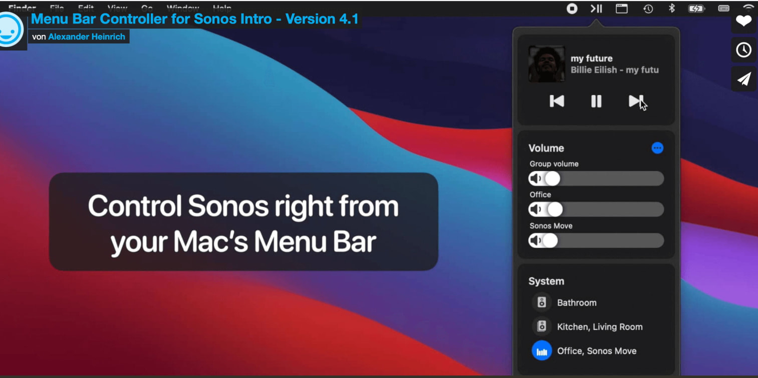 Menu Bar Controller for Sonos Version 4.1 techboys.de • smarte News, auf den Punkt!