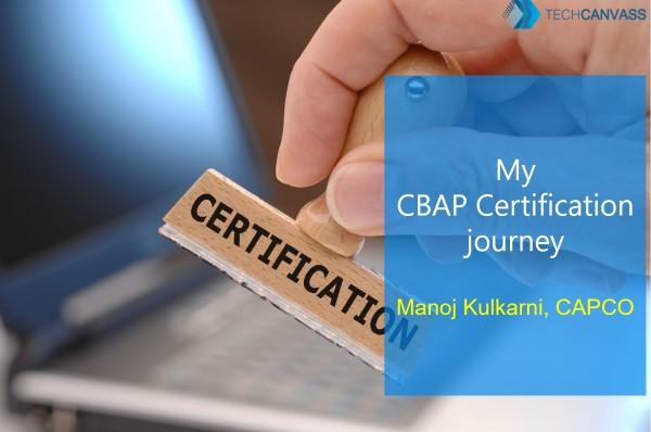 My CBAP journey