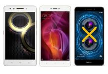 Lenovo K8 Note vs Redmi Note 4 vs Honor 6X : Price, specs, features compared